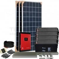 Kit aislada Solar Pack OGP08 2,4kW 24V  3,9 kW/dia ELECSUN