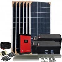 Kit aislada Solar Pack OGP09 2,4kW 24V 7,8 kW/dia ELECSUN