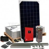 Kit aislada Solar Pack OGP12  2kW 24V 10,4 kW/dia ELECSUN