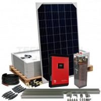Kit aislada Solar Pack OGP14  2,4kW 48v 15,6 kW/dia ELECSUN