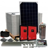 Kit aislada Solar Pack OGP19  8kW 48v 31,12 kW/dia CONVERSION DEVICES