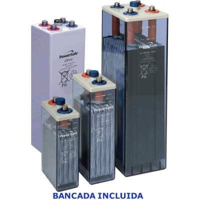6 Elementos acumulador ENERSYS 2V 323Ah (C10) con bancada.