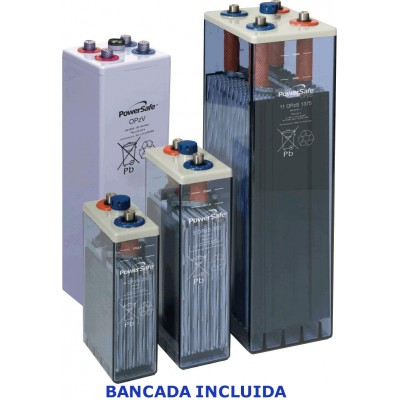 6 Elementos acumulador ENERSYS 2V 340Ah (C10) con bancada.