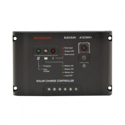 Regulador 10A -12/24V ELECSUN - crepusc. con programación nocturna - PROBISOL